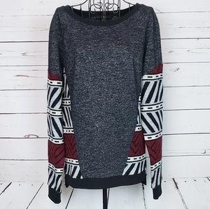 Sanctuary Aztec Design Detail Sweatshirt Size L